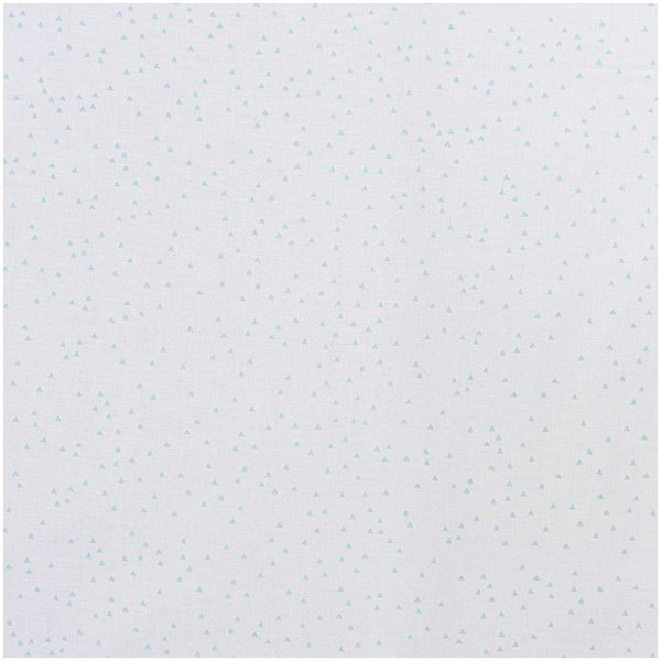 Rico Design Stoff Dreiecke weiß-mint 50x140cm