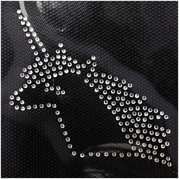 Jewellery Made by Me Bügelmotiv Einhorn 60x65mm Strass