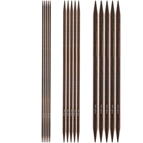 KnitPro Nadelspiel 20cm Birkenholz