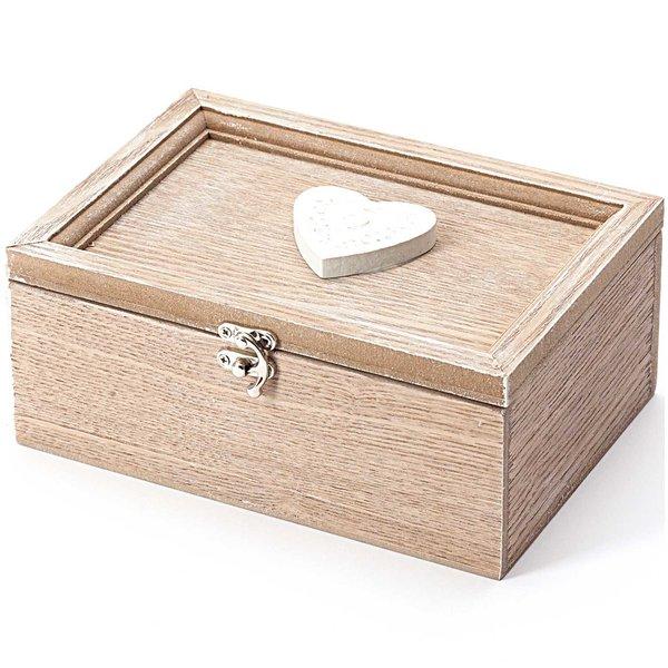 Herzbox 17x11cm Holz