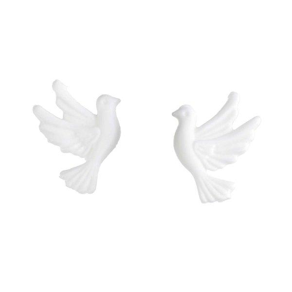 efco Wachsdekor Taubenpaar weiß 3,5cm