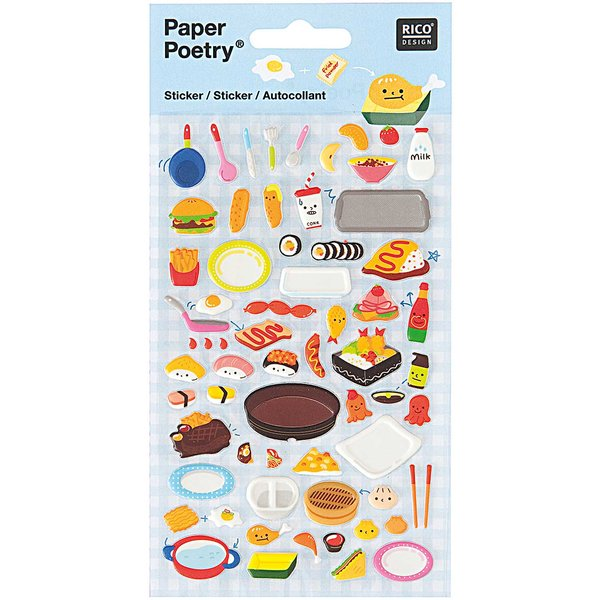 Paper Poetry Sticker Lunch Box