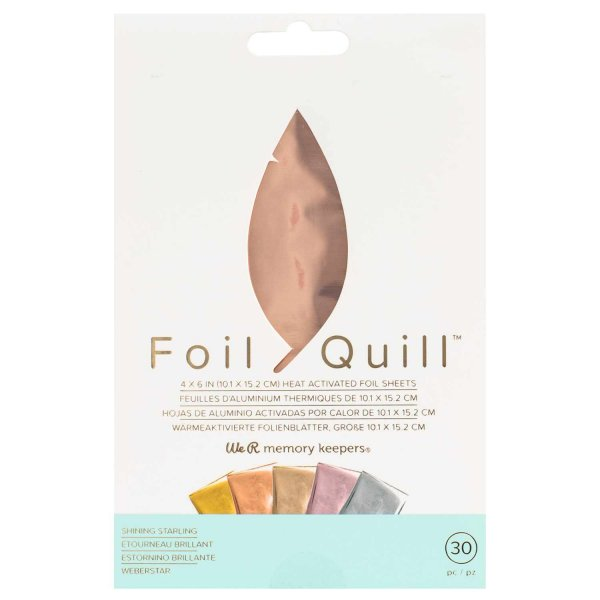 We R Memory Keepers Foil Quill Transferfolien Set Shinning Starling 10,1x15,2cm 30 Blatt