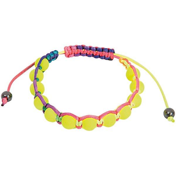 Rico Design Makrameearmband gelb-mehrfarbig 17-26cm