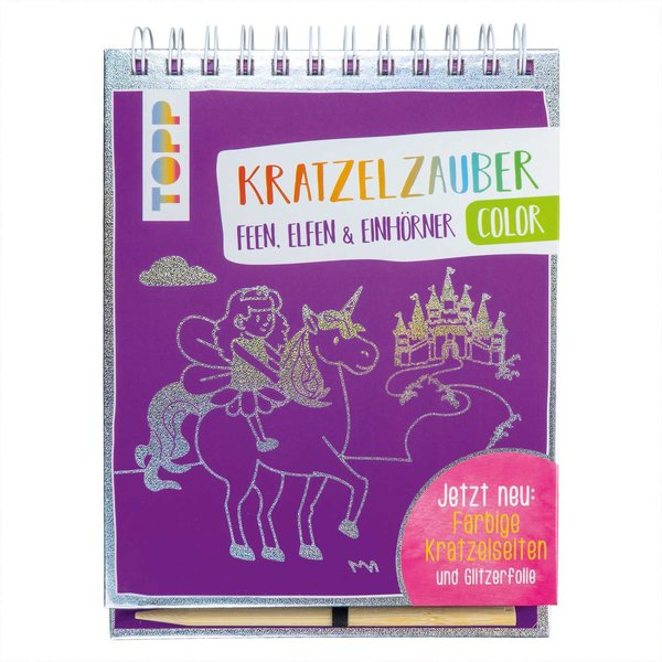TOPP Kratzelzauber Color Feen, Elfen & Einhörner