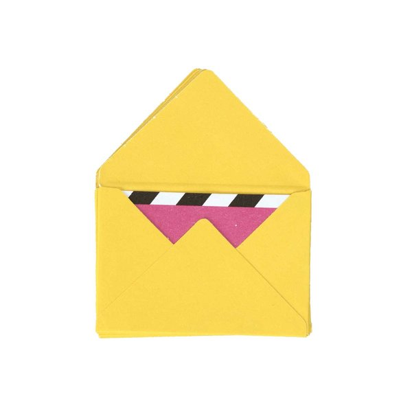 Paper Poetry Mini Briefe gelb 3x4,5cm 10 Stück