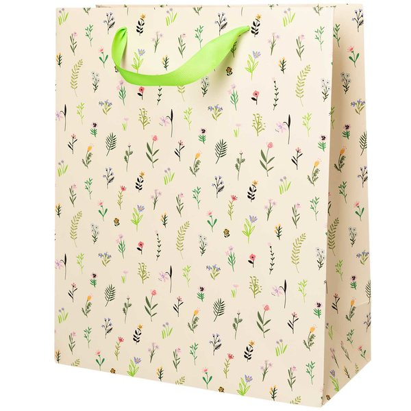 Paper Poetry Geschenktüte Bunny Hop Streublumen 26x32x12cm