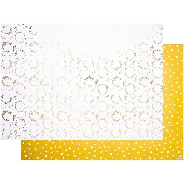 Paper Poetry Motivkarton Nostalgic Christmas Kränze gold 50x70cm